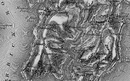 Old map of Percuil in 1895