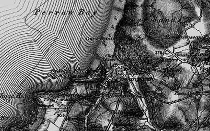 Old map of Perranporth in 1895