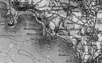 Old map of Perranuthnoe in 1895