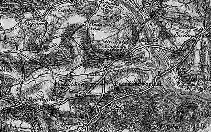 Old map of Perranwell in 1895