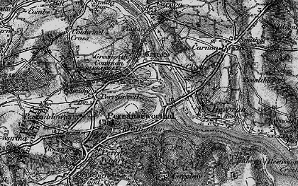Old map of Perranwell Station in 1895