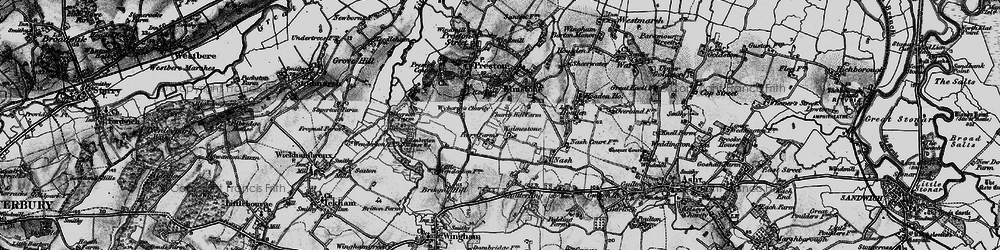 Old map of Wyborne's Charity in 1895