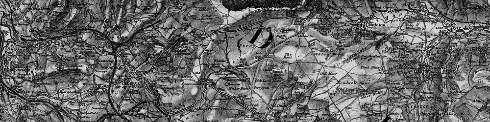 Old map of Whitelee in 1896