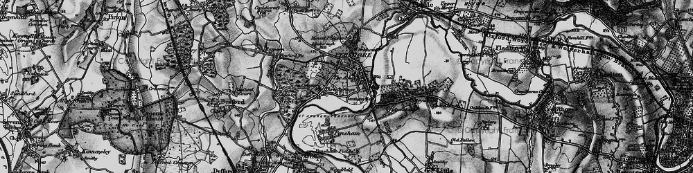 Old map of Pershore in 1898