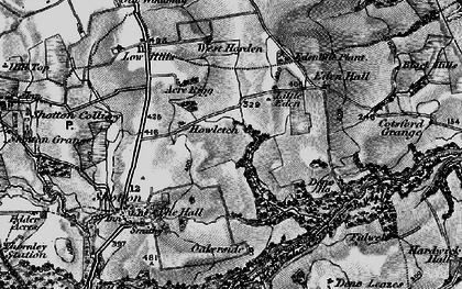 Old map of Peterlee in 1898