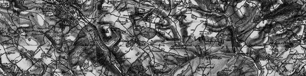 Old map of Whiteway Bottom in 1896