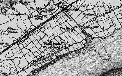 Old map of Peterstone Wentlooge in 1898