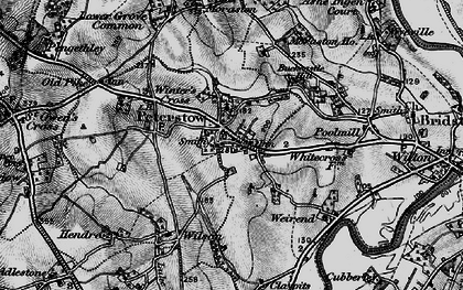 Old map of Peterstow in 1896