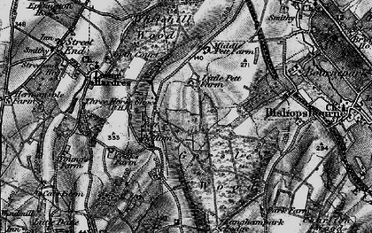 Old map of Gorsley Wood in 1895