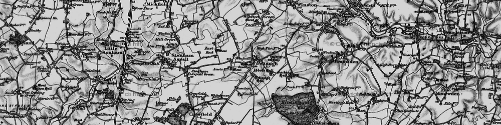 Old map of Winston Green in 1898