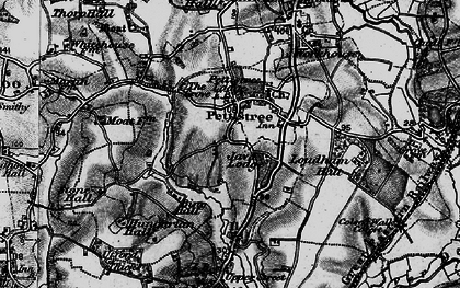 Old map of Pettistree in 1898