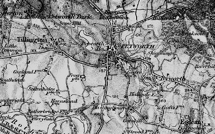 Old map of Petworth in 1895