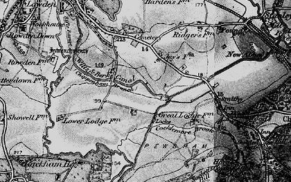 Old map of Wiltshire College (Lackham) in 1898