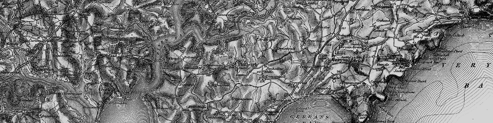 Old map of Ardevora Veor in 1895