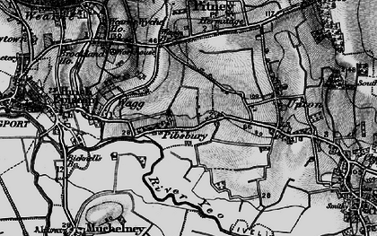 Old map of Pibsbury in 1898
