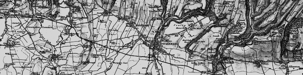 Old map of Westgate Carr in 1898