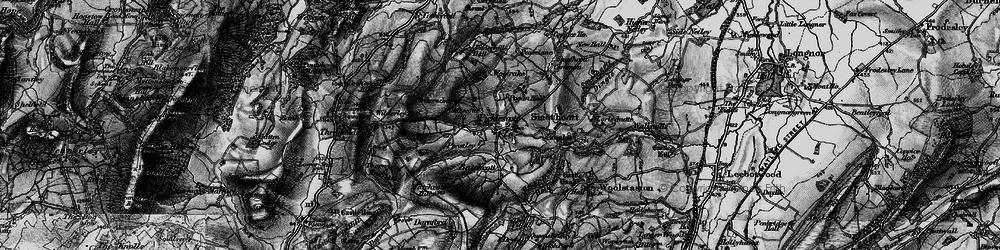 Old map of Wilderley Hill in 1899