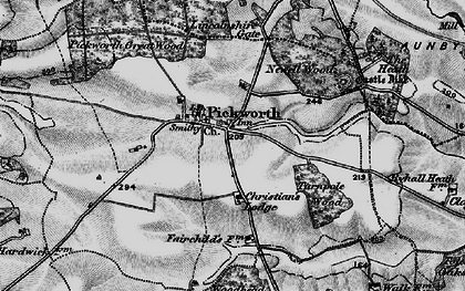 Old map of Lincolnshire Gate in 1895