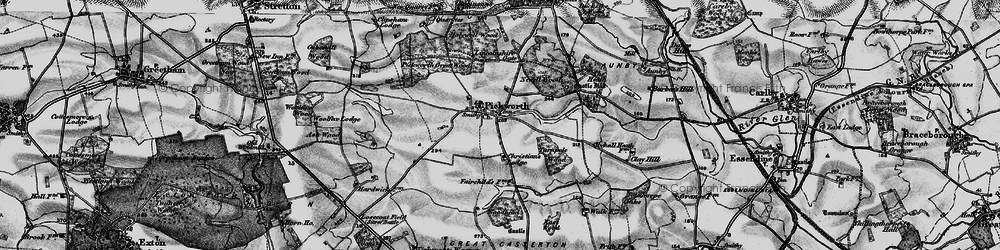 Old map of Woodhead in 1895