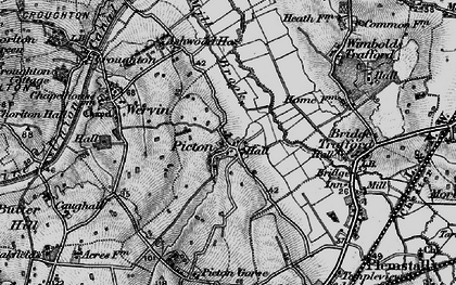 Old map of Ash Hey in 1896