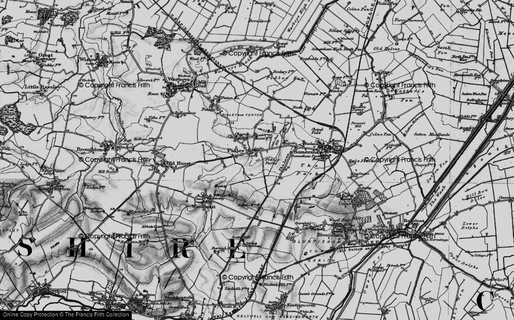 Old Map of Pidley, 1898 in 1898