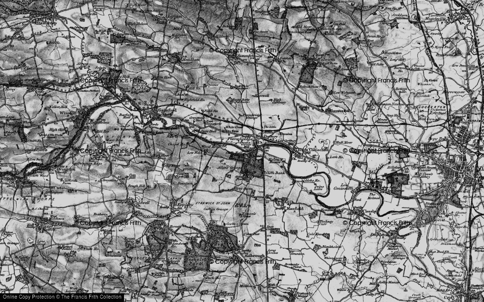 Old Map of Historic Map covering Allan's Grange in 1897