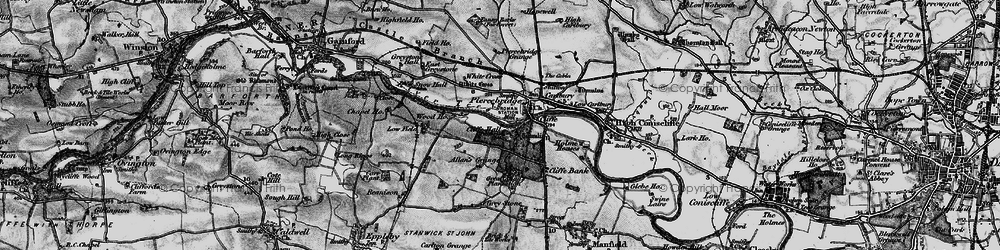 Old map of White Cross in 1897