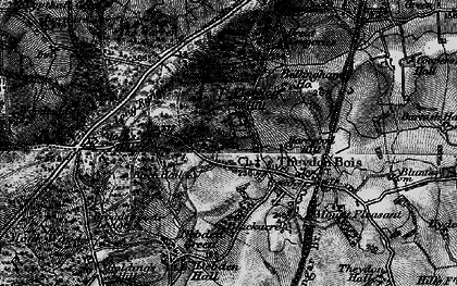 Old map of Ambresbury Banks in 1896