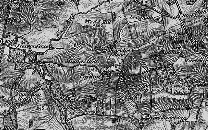 Old map of Abshields in 1897