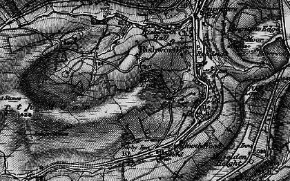 Old map of Baitings Resr in 1896