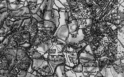 Old map of Pilcott in 1895