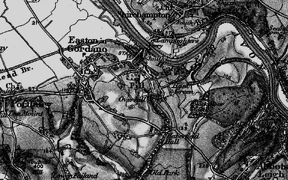 Old map of Pill in 1898
