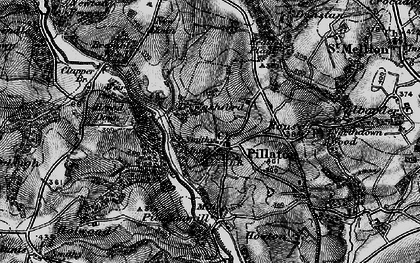 Old map of Pillaton in 1896