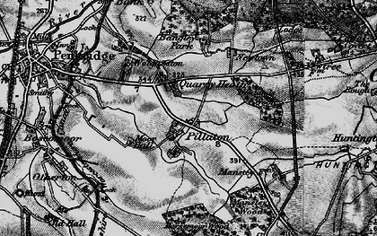 Old map of Bangley Park in 1898
