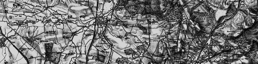 Old map of Wolgarston in 1898