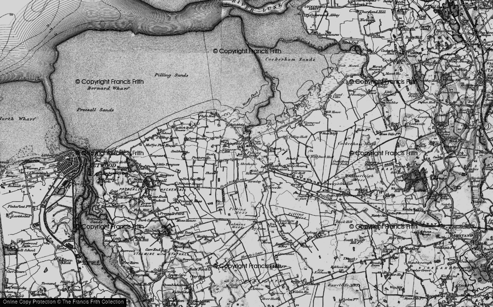 Old Map of Pilling, 1896 in 1896
