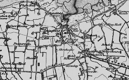 Old map of Pilling in 1896