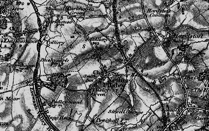Old map of Pilsley in 1896