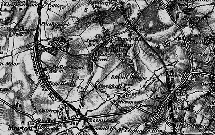 Old map of Pilsley Green in 1896