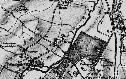 Old map of Linches, The in 1898