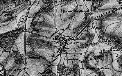 Old map of Letton Park in 1895