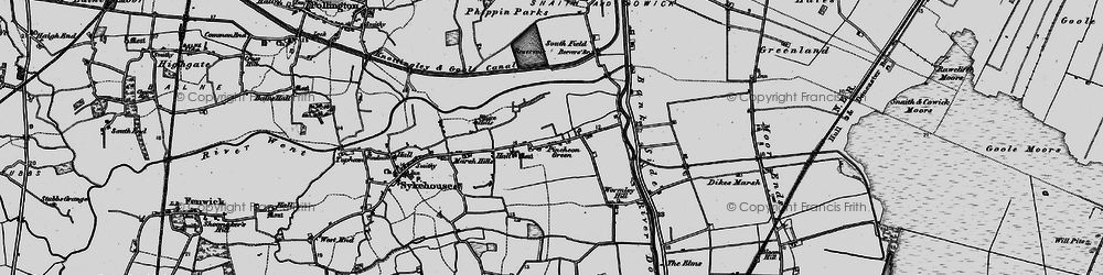 Old map of Wormley Hill in 1895