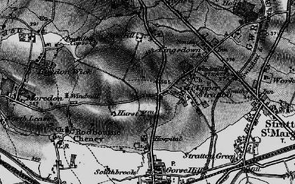 Old map of Pinehurst in 1896