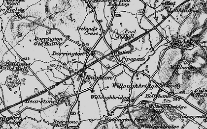 Old map of Weymouth in 1897