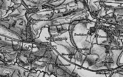 Old map of Westdownend in 1895