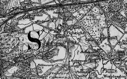 Old map of Pirbright in 1896