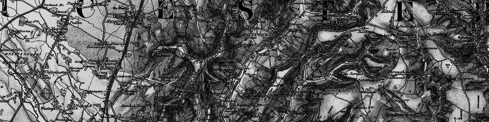 Old map of Pitchcombe in 1896