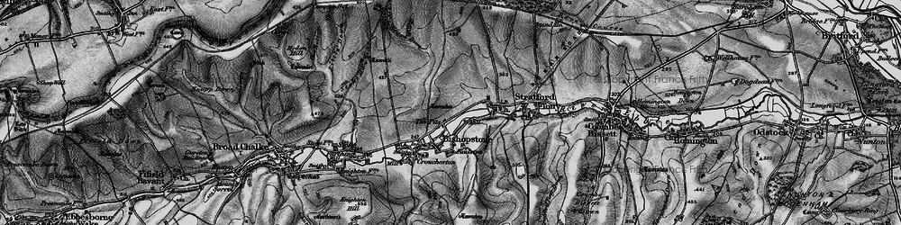 Old map of Windwhistle in 1895