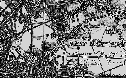 Old map of Plaistow in 1896