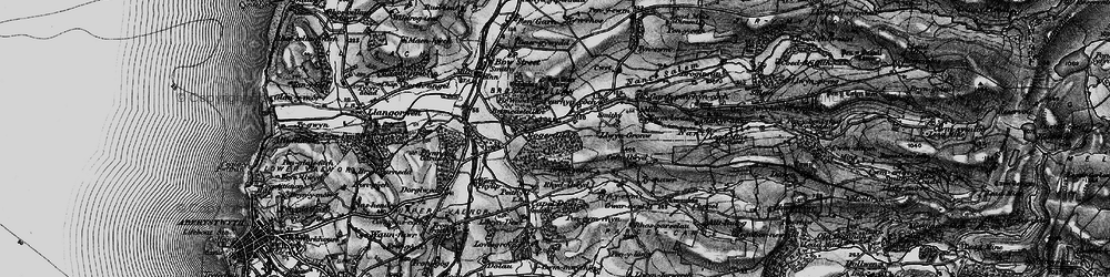Old map of Allt Dderw in 1899